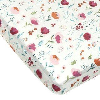 Rosey Bloom Crib Sheet