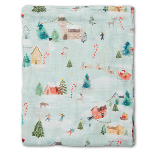 Merry and Bright Muslin Swaddle