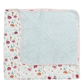 Rosey Bloom Muslin Quilt Blanket