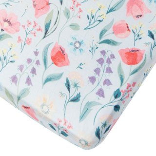 Bluebell Fitted Crib Sheet