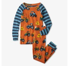 Retro Tractors Organic Cotton Pajama Set
