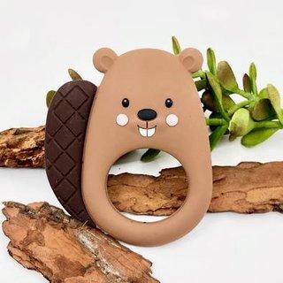 Brown Beaver Teether
