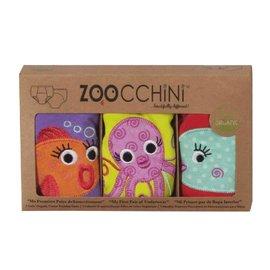 Zoochini Girls Training Pant, 3 Pack (2 Designs)