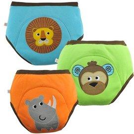 Zoochini Training Pant 3 Pack, Boys Safari Friends