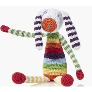 Pebble Pebble Rattle, Rainbow Bunny