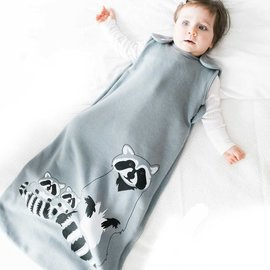 WeeUrban Grey Raccoon WeeDreams Premium Sleep Sac
