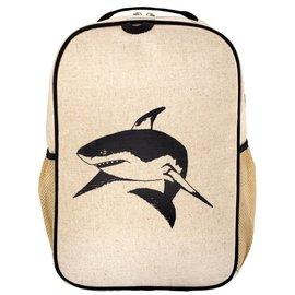SoYoung Black Shark Raw Linen Gradeschool Backpack