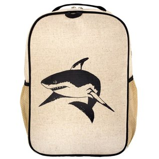 SoYoung Black Shark Raw Linen Gradeschool Backpack