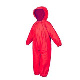 Red Splashy Breathable Nylon Rain Suit