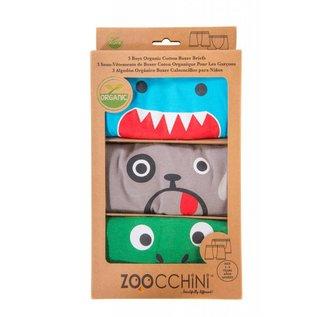 Zoochini Organic Boys Boxer Briefs, Monster Mash