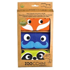 Zoochini Organic Boys Boxer Briefs, Enchanted Forest