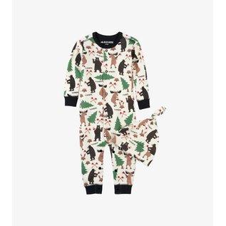 Hatley Lumberjack Animals Infant Coverall & Cap Set