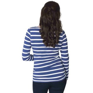 Momzelle Nursing Top EMMA, Navy Stripe