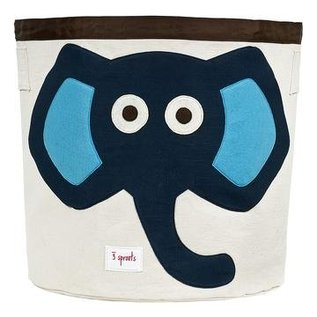 3 Sprouts Toy Bin, Blue Elephant