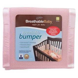 Breathable Baby Breathable Bumpers, Pink