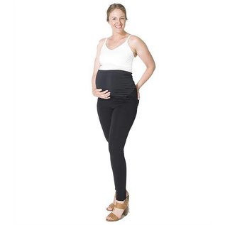Momzelle Essential Maternity Pant, Black