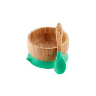 Avanchy Bamboo Green Bamboo Suction Bowl & Spoon Set