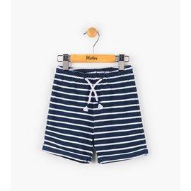 Hatley Navy Striped Mini Pull-On Shorts