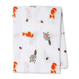 Lulujo Forest Friends Cotton Muslin Swaddle