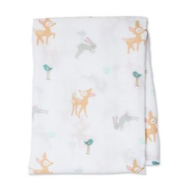 Lulujo Little Fawn Cotton Muslin Swaddle