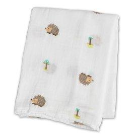 Lulujo Hedgehogs Cotton Muslin Swaddle