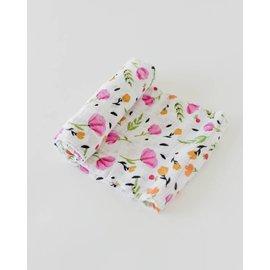 Little Unicorn Berry & Bloom Cotton Muslin Swaddle