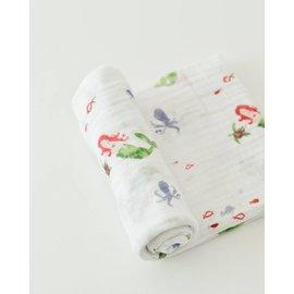 Little Unicorn Mermaid Cotton Muslin Swaddle