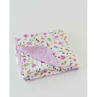 Little Unicorn Berry & Bloom Cotton Muslin Quilt
