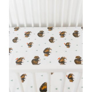 Little Unicorn Bison Cotton Muslin Crib Sheet