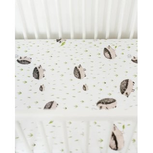 Little Unicorn Hedgehog Cotton Muslin Crib Sheet