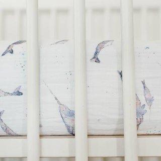 Narwhal Cotton Muslin Crib Sheet