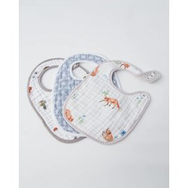Little Unicorn Fox Cotton Muslin Bib 3pk