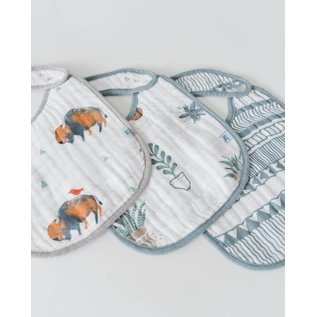 Little Unicorn Bison Cotton Muslin Bib 3pk