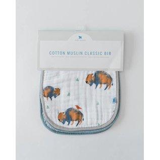 Little Unicorn Bison Cotton Muslin Bib 3pk