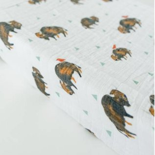 Little Unicorn Bison Cotton Muslin Changing Pad Cover