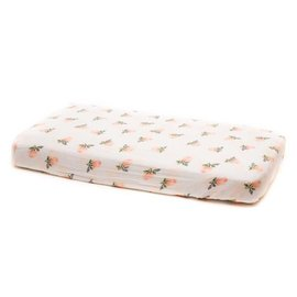 Little Unicorn Watercolour Roses Cotton Muslin Changing Pad Cover