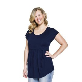 Momzelle Nursing Top, FLORENCE, Deep Sea Blue