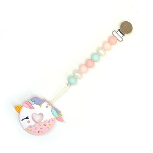 Loulou Lollipop Blue Unicorn Donut Teether Set, Blue Gold