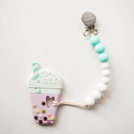 Loulou Lollipop Milk Tea Teether, Aqua