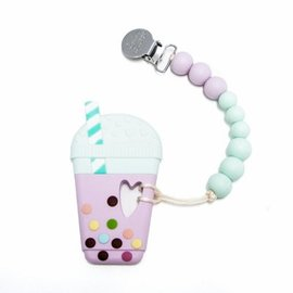 Loulou Lollipop Milk Tea Teether, Lilac Mint
