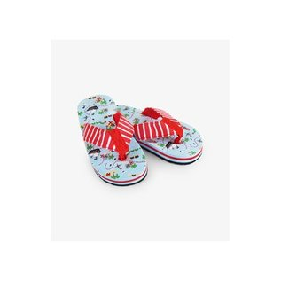 Little Blue House Sailboats Flip Flops
