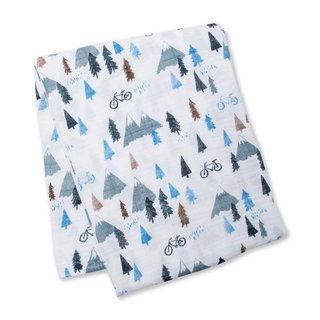 Mountain Top Cotton Muslin Swaddle