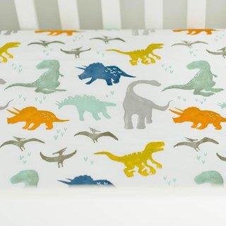 Dino Friends Muslin Crib Sheet