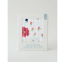 Summer Poppy Changing Pad Cover