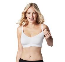 Body Silk Seamless Nursing Bra, White