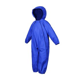 Royal Blue Splashy Breathable Nylon Rain Suit