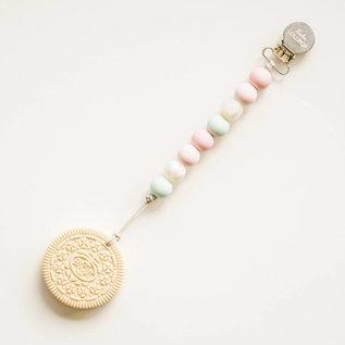 Loulou Lollipop Cream Cookie Teether Set,  Blue Pink