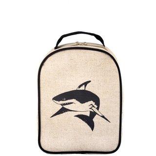 Black Shark Raw Linen Little Lunchbox