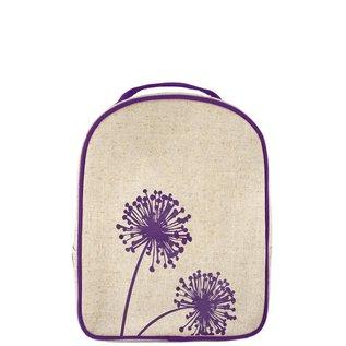 SoYoung Purple Dandelion Raw Linen Little Lunch Box