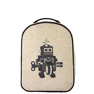 SoYoung Grey Robot Raw Linen Little Lunchbox